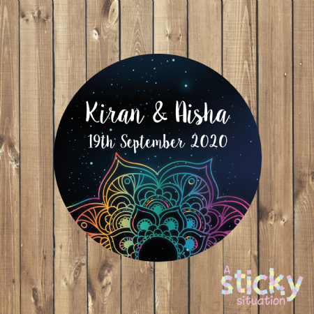 Personalised Indian Wedding Stickers